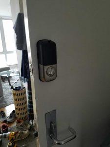 View of Door with Smart Lock